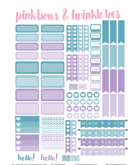 Dynamic image for free printable functional planner stickers