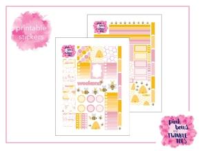 PBTT Honey Bee Sticker Kit Two Page
