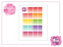 PBTT Light Ombre Checklist Sticker Sheet