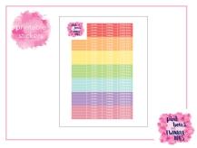 PBTT Pastel Multi Header Sticker Sheet